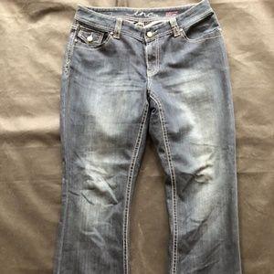 INC Jeans Curvy Fit Boot Leg Size 12 DARK wash
